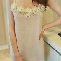 Flowers Knitted Top